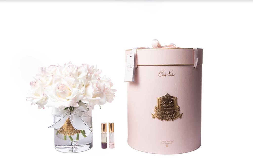 COTE NOIRE - Large Bouquet Rose Blush Clear Vase-1
