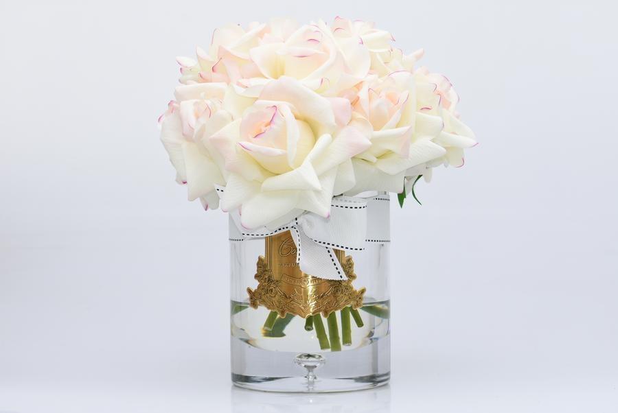 COTE NOIRE - Large Bouquet Rose Blush Clear Vase-2