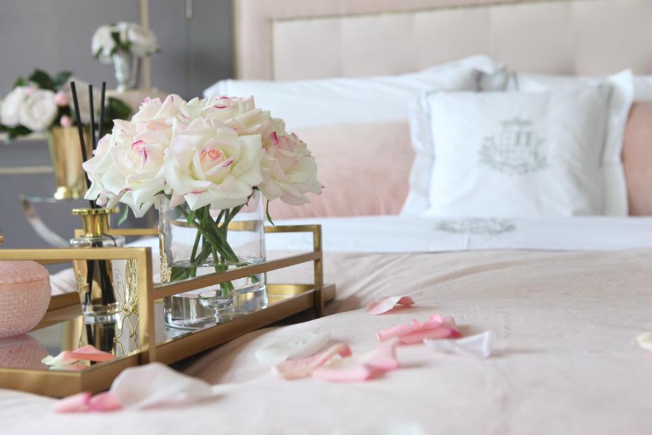 COTE NOIRE - Large Bouquet Rose Blush Clear Vase-3