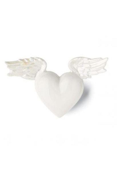DENZ HERZ - Heart Pavo Blanc Nacre