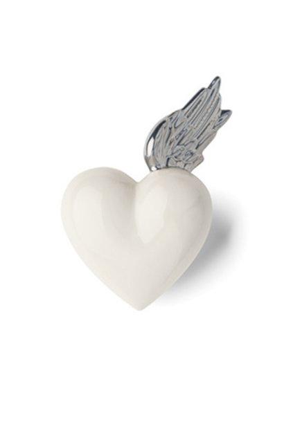 DENZ HERZ - White and Silver Berenike Heart