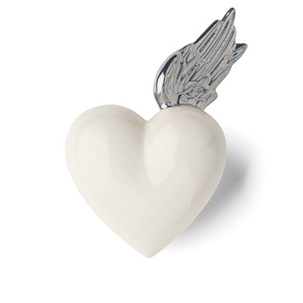 DENZ HERZ - White and Silver Berenike Heart-2