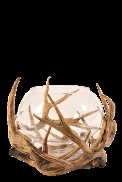 S BY SEGRAETI - Brown Deer Tealight Holder H50cm