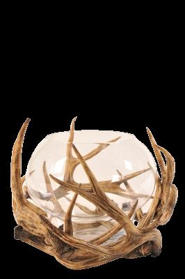S BY SEGRAETI - Brown Deer Tealight Holder H50cm-2