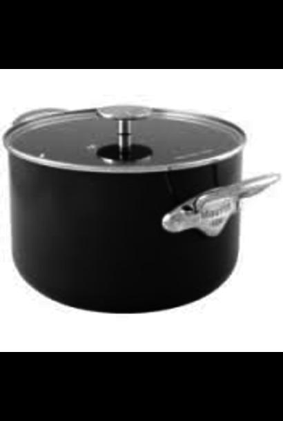 MAUVIEL - M'Stone Black Ceramic Stewpot + 24cm Lid