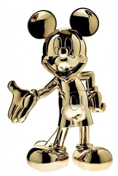 LEBLON DELIENNE - Mickey Welcome Chromé Or 30cm
