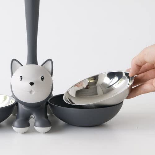 ALESSI - Gray Cat Bowl-3