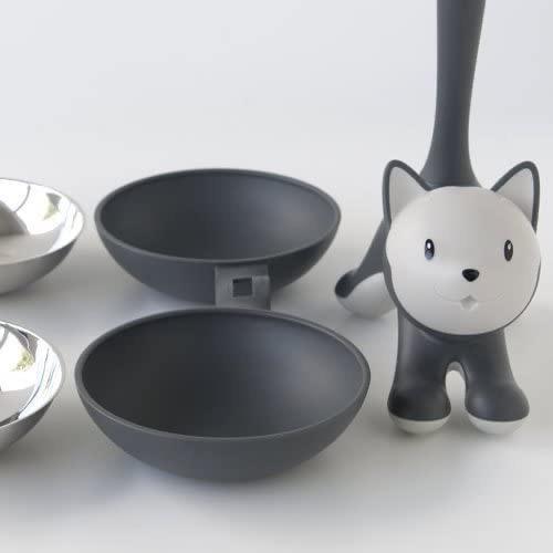 ALESSI - Gray Cat Bowl-4