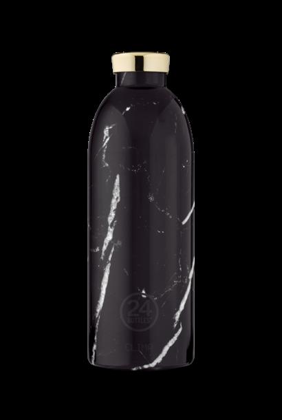 24 BOTTLES - Bouteille Thermos Clima Marble Noir 85cl
