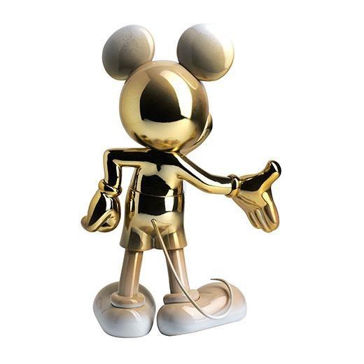 LEBLON DELIENNE - Mickey Welcome Gold & White 30cm-3