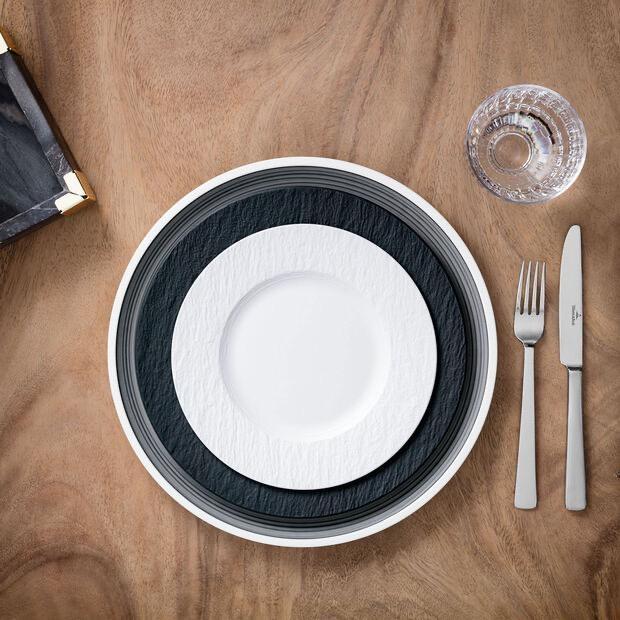 VILLEROY & BOCH - Manufacture Rock White Dessert Plate 22cm-2