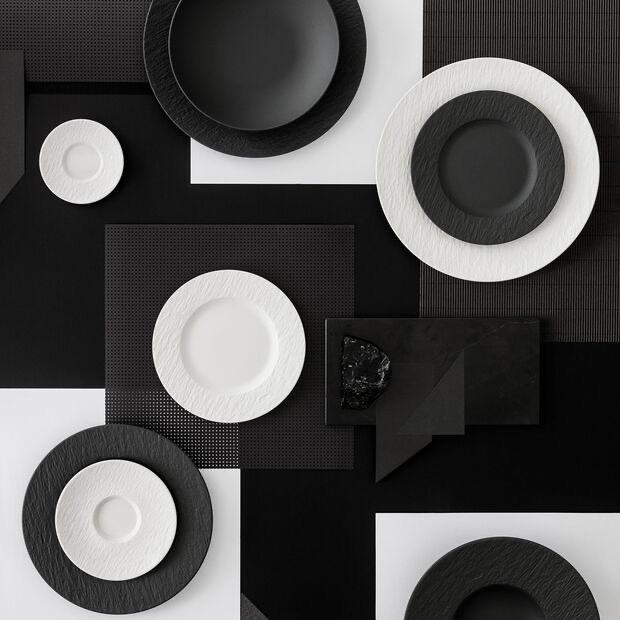 VILLEROY & BOCH - Manufacture Rock White Dessert Plate 22cm-4