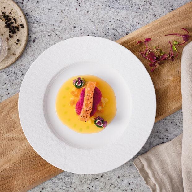 VILLEROY & BOCH - Manufacture Rock White Dessert Plate 27cm-3
