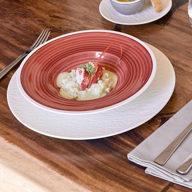 VILLEROY & BOCH - Manufacture Rock White Dessert Plate 27cm-4
