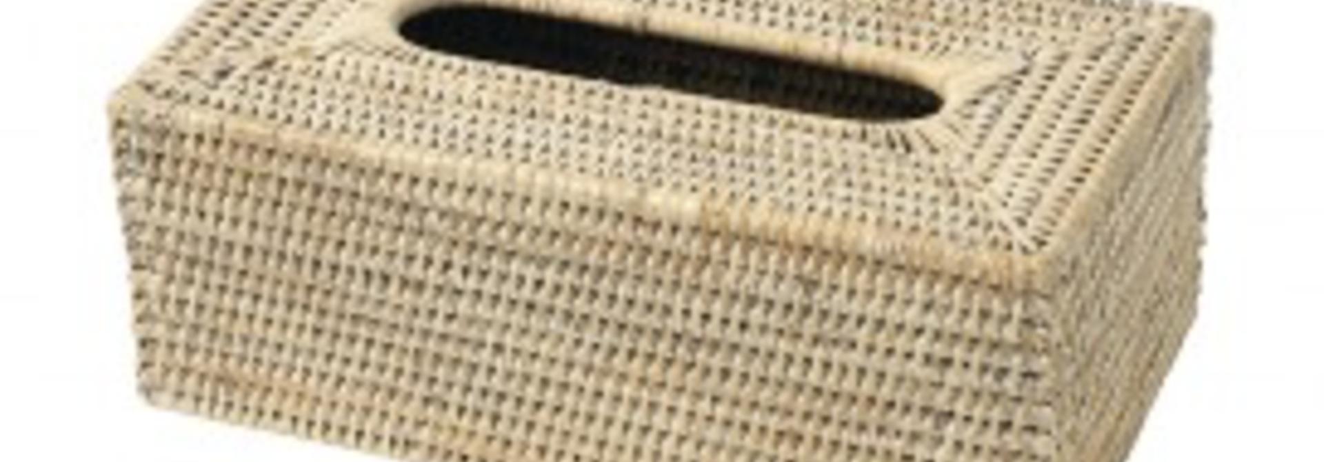 PAGAN - Boite Kleenex Rotin 25x14x10cm