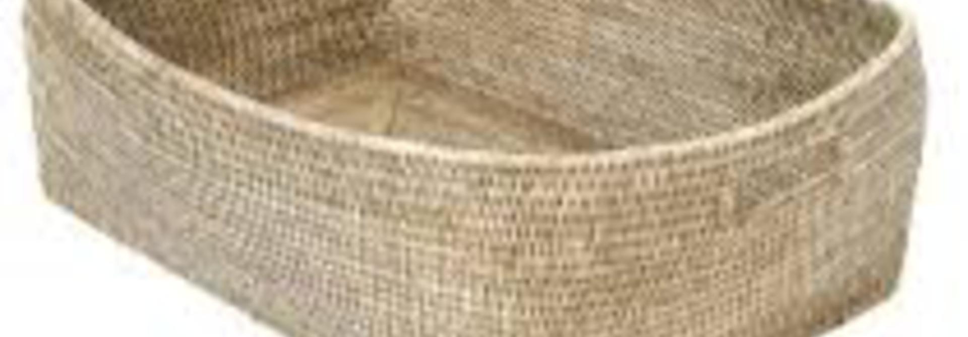 PAGAN - Escale Ceruse Rattan Basket 65x44x21cm