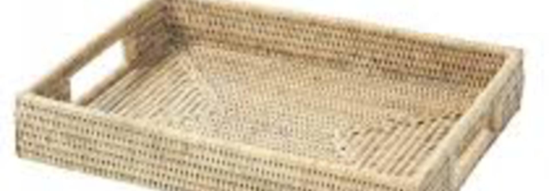 PAGAN - Babette Ceruse Rattan Tray 36x25x6cm
