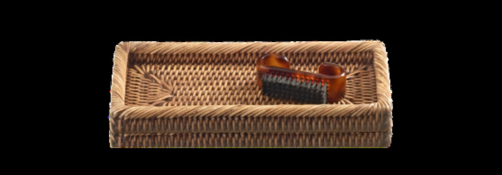PAGAN - Small Rattan Tray 21x7x3cm