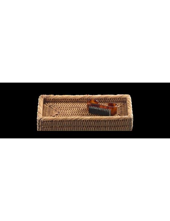 PAGAN - Small Rattan Tray 21x7x3cm-1