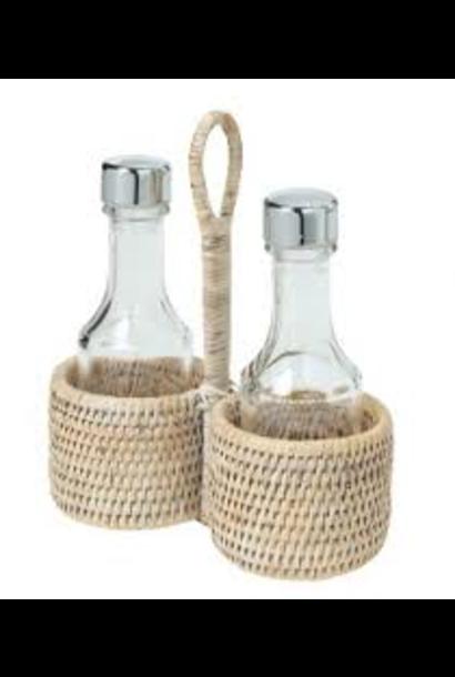 PAGAN - Rattan Oil & Vinegar Set