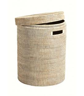 PAGAN - Ceruse Linen Basket-1