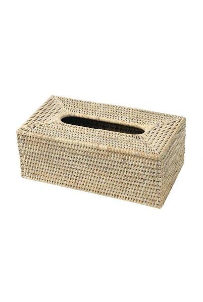 PAGAN - Boite Mouchoirs Rotin Cosette 25x14x6,5cm