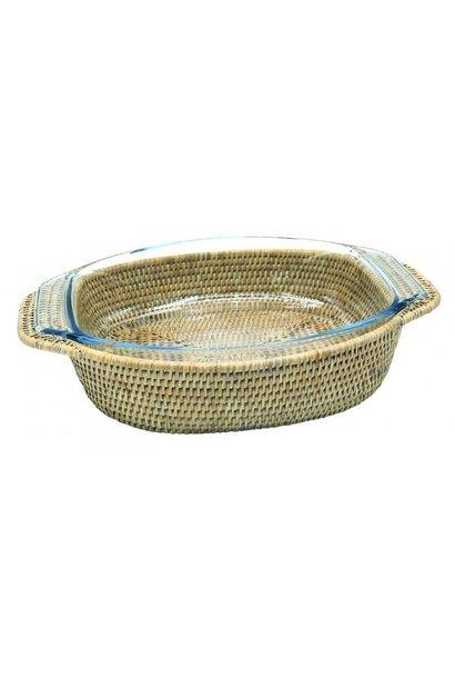PAGAN - Rattan Gratin Dish 40x28cm