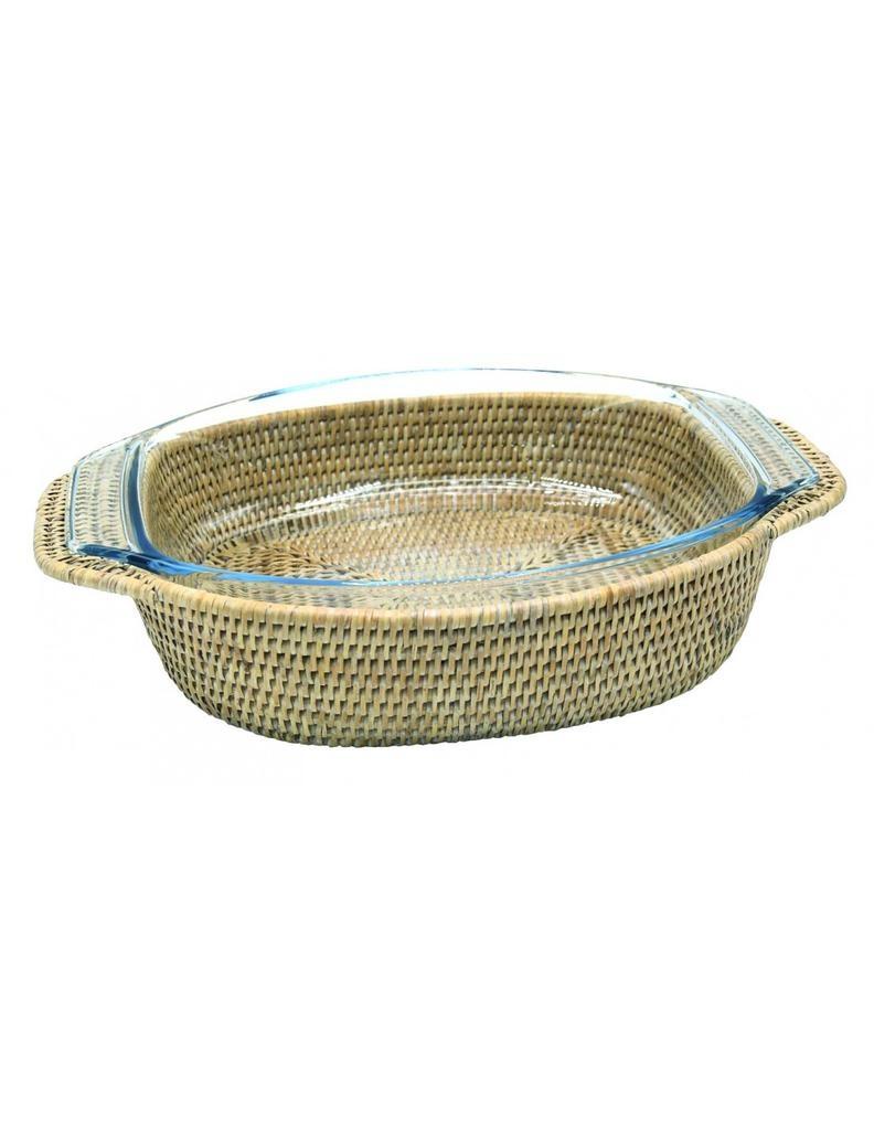 PAGAN - Rattan Gratin Dish 40x28cm-1