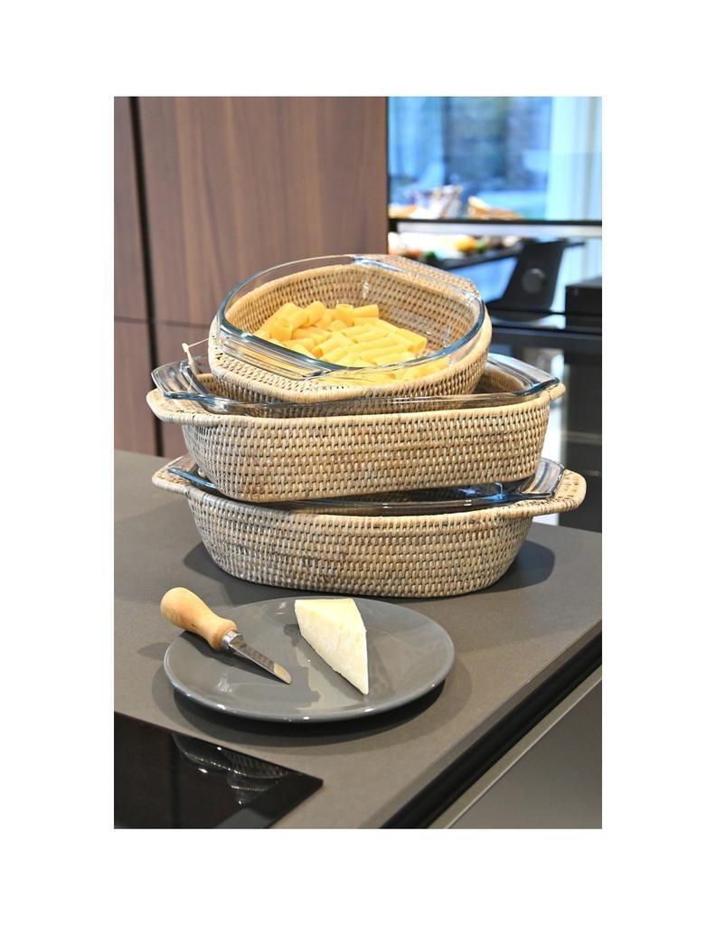 PAGAN - Rattan Gratin Dish 40x28cm-2