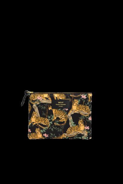 WOUF - Pochette Large Black Lazy Jungle
