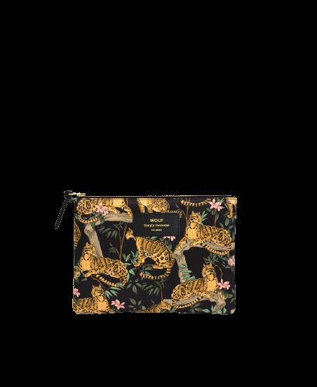 WOUF - Large Black Lazy Jungle Pouch-1