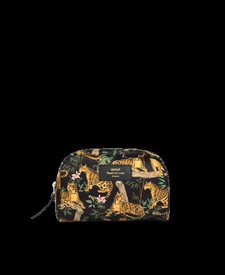 WOUF - Black Lazy Jungle Makeup Bag-1