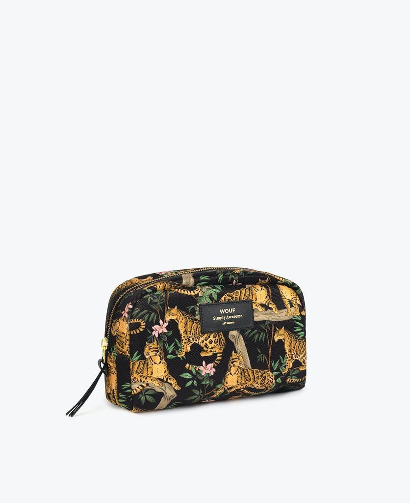 WOUF - Black Lazy Jungle Makeup Bag-4
