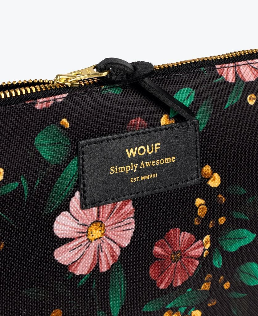 WOUF - Black Flowers XL Pouch-2
