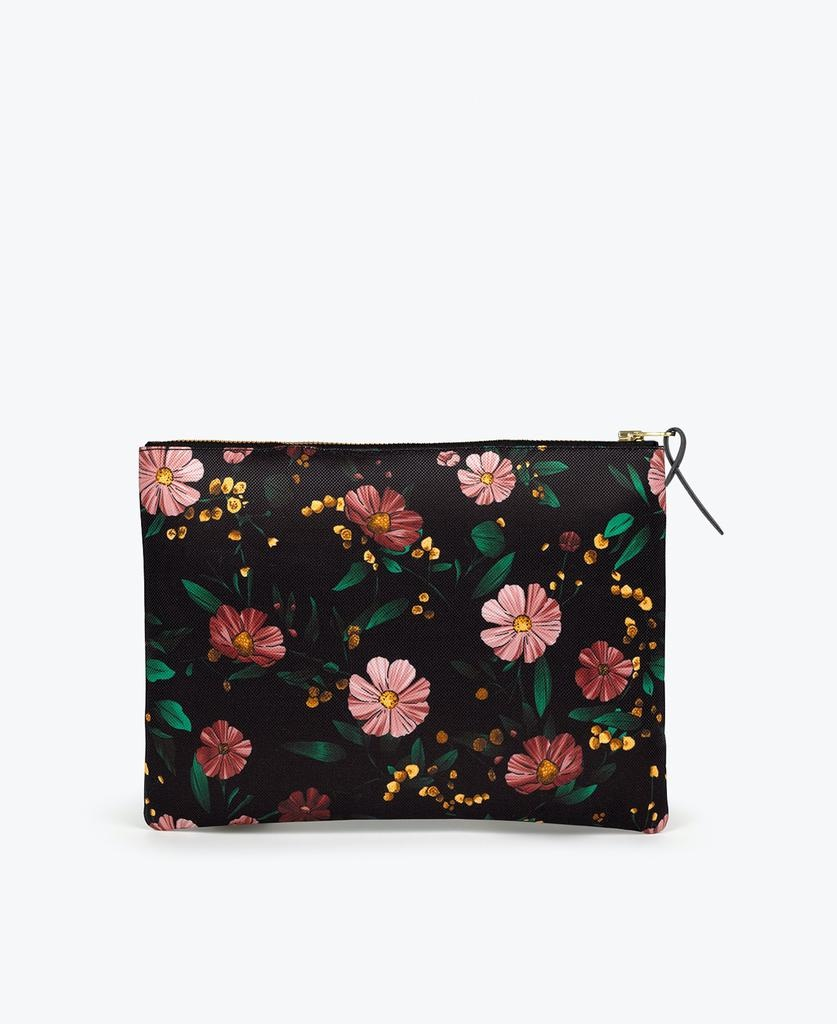 WOUF - Black Flowers XL Pouch-4