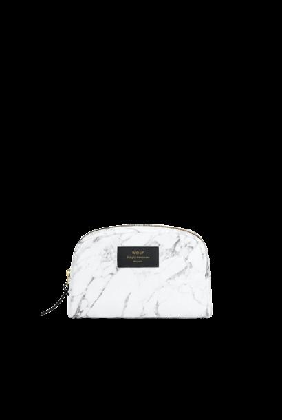 WOUF - White Marble Makeup Bag