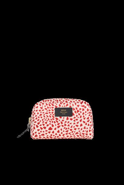 WOUF - White Hearts Makeup Bag
