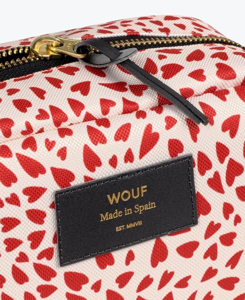 WOUF - White Hearts Makeup Bag-4