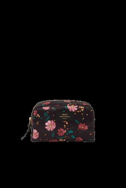 WOUF - Black Flowers Makeup Bag
