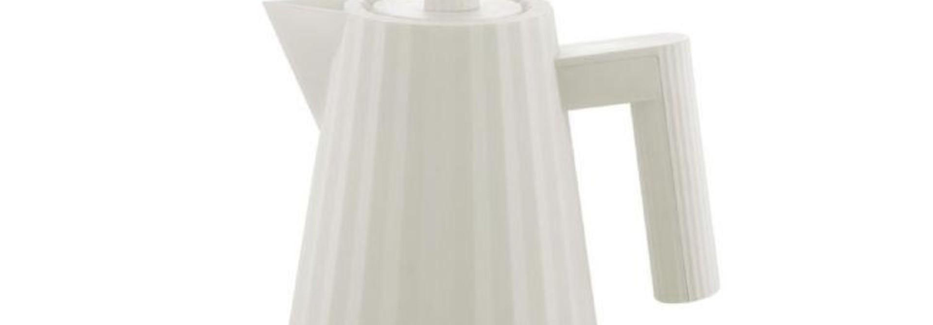 ALESSI - White Plissé Kettle 1L