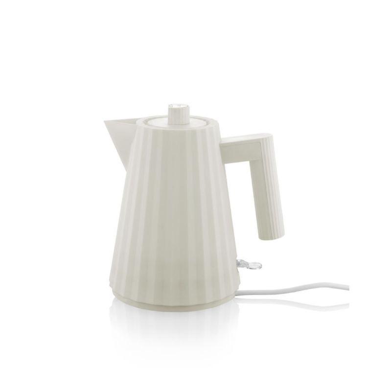 ALESSI - White Plissé Kettle 1L-1