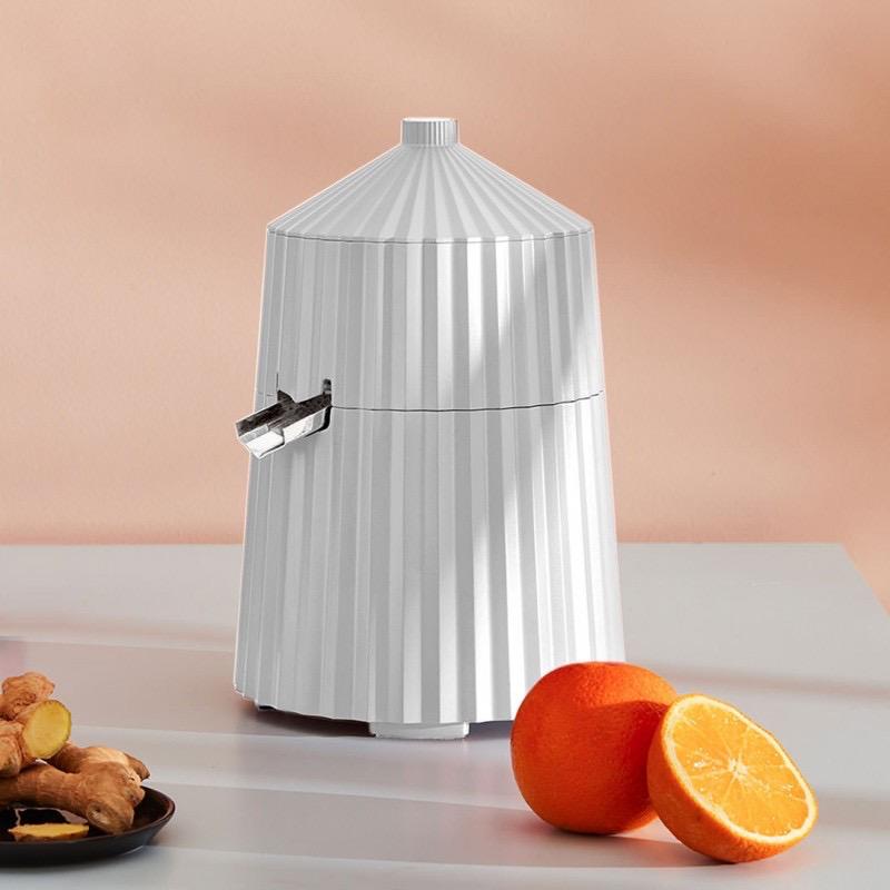 ALESSI - White Pleated Citrus Press-3