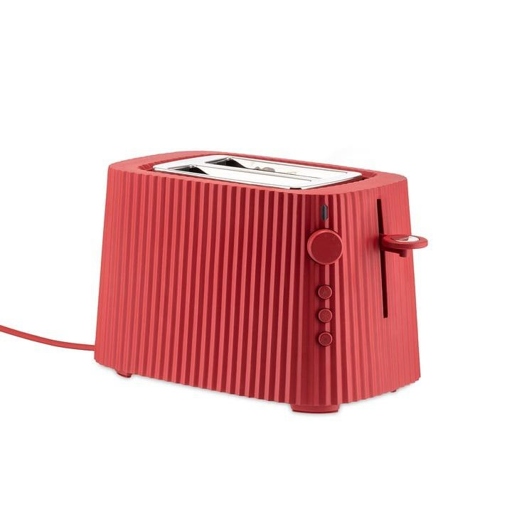 ALESSI - Red Resin Pleated Toaster-1