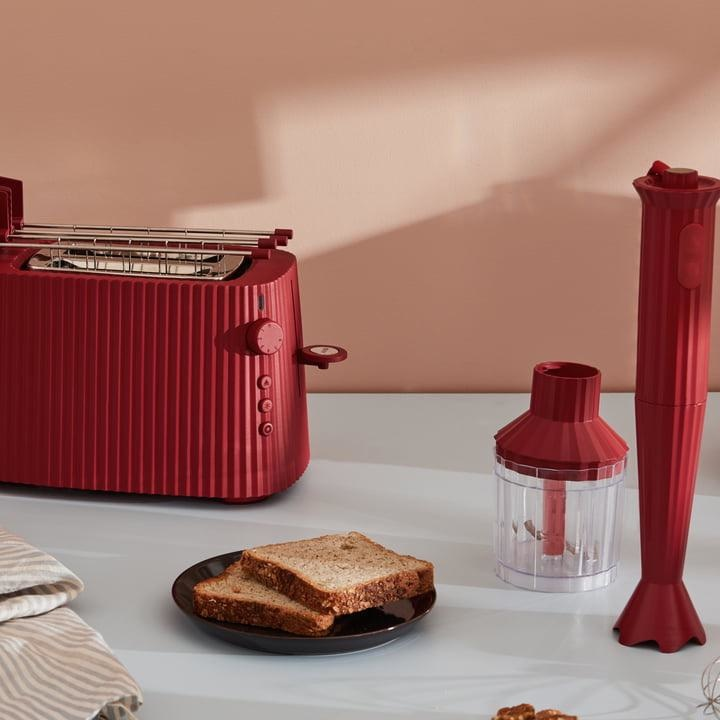 ALESSI - Red Resin Pleated Toaster-2