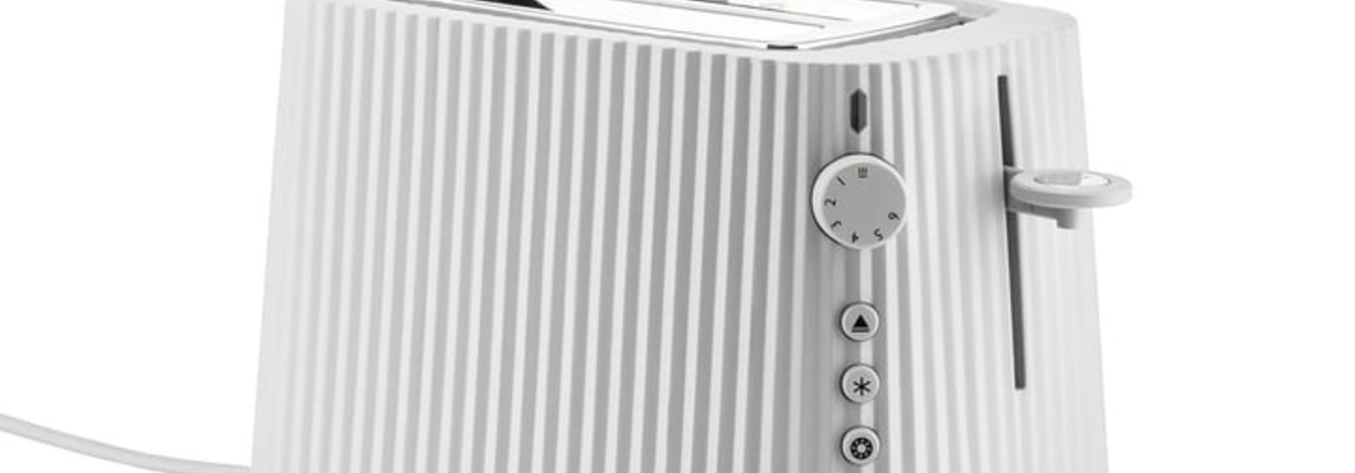 ALESSI - White Resin Pleated Toaster