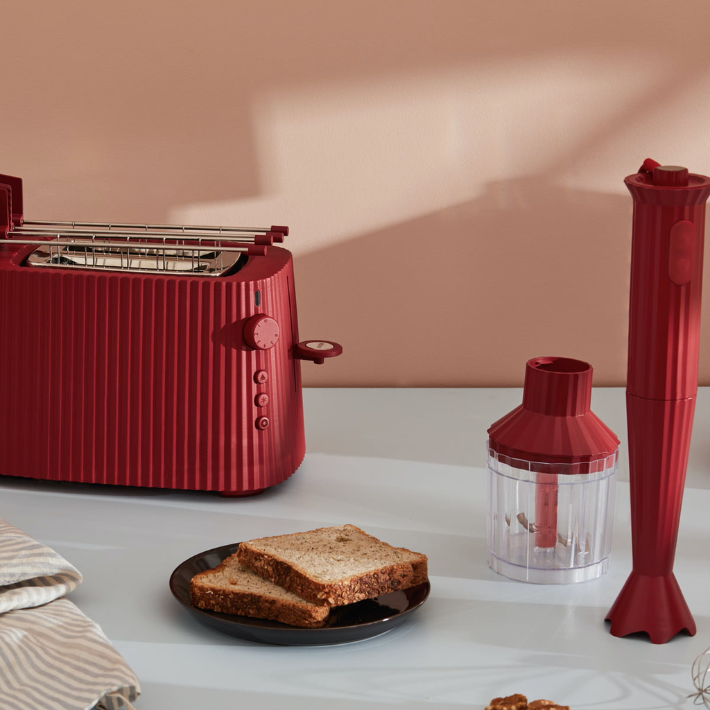 ALESSI - White Resin Pleated Toaster-3