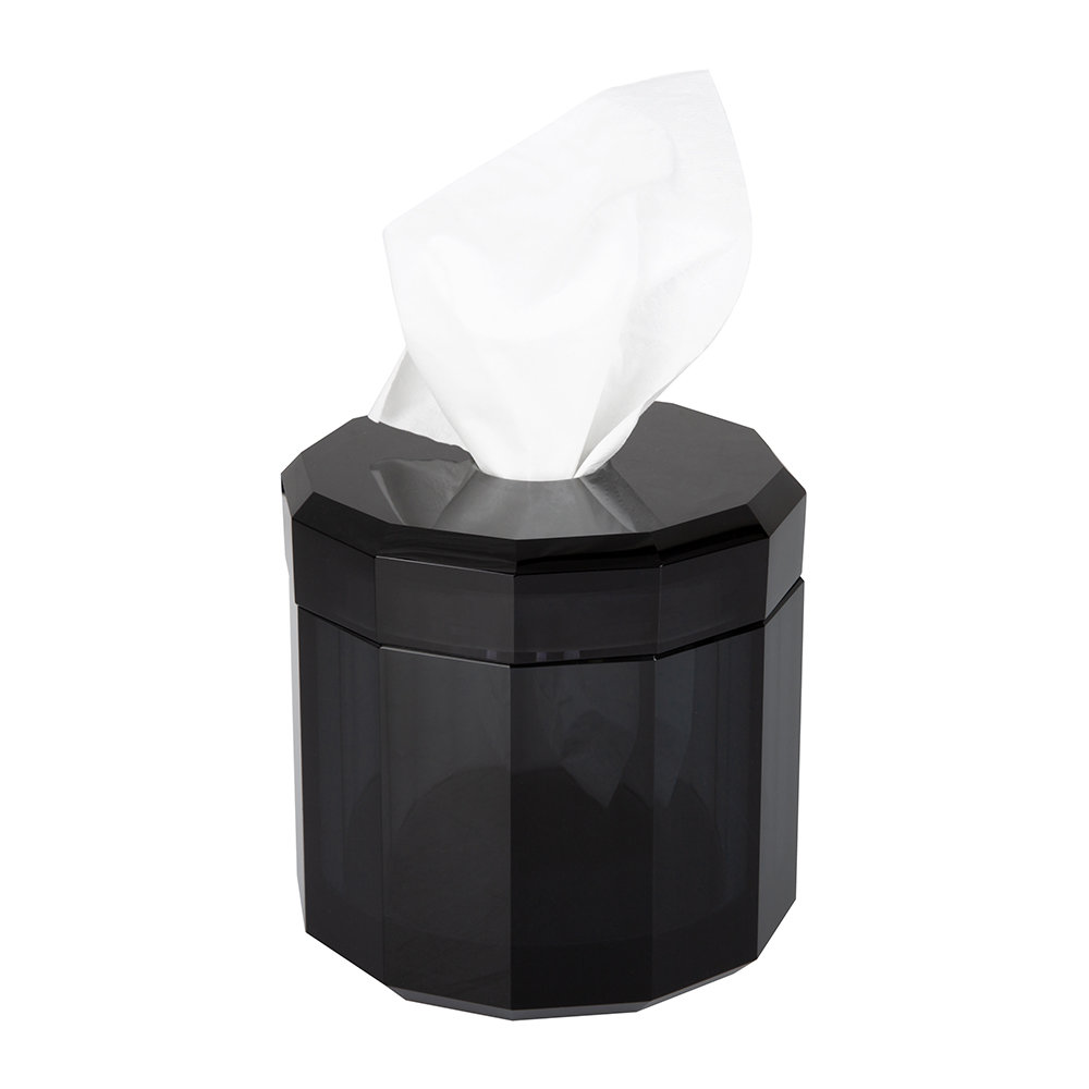 DECOR WALTHER - Crystal / Anthracite Tissue Box-2