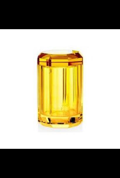 DECOR WALTHER - Boite + Couvercle Cristal / Ambre