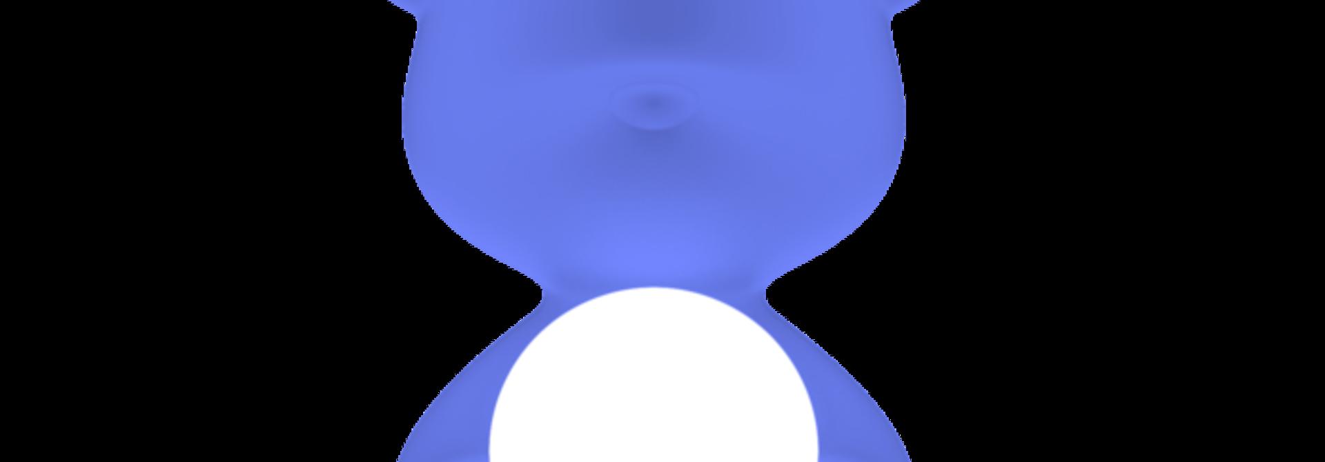 QEEBOO - Blue Teddy Girl Lamp