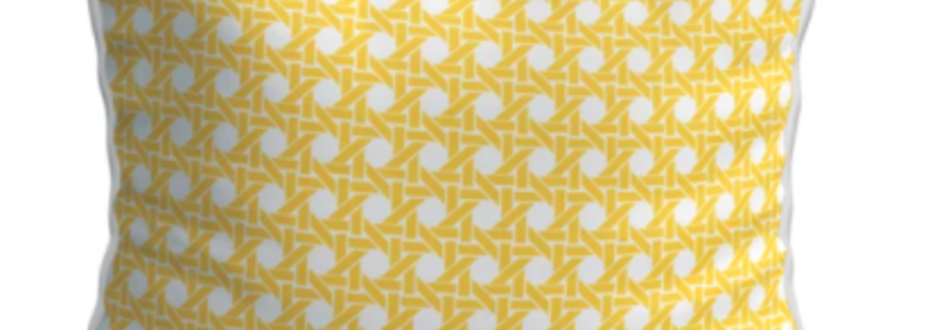 OU EST MARIUS - Cushion Cannage Mimosa 45x45cm